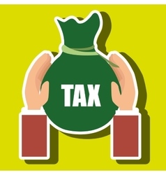 bag money tax vector image