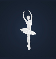 Beautiful female ballet dancer vector