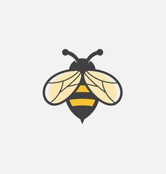 bee icon honey vector image