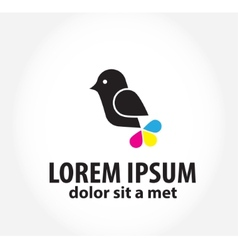 bird logo logo design template for printing vector image