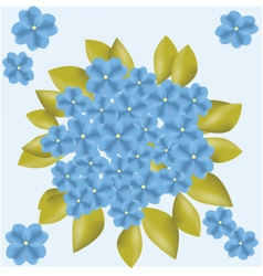 Blue flowers background vector image