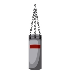 boxing bag isolated icon design vector image