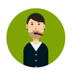 cartoon character smoking a cigarette vector image