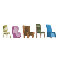 chair comfortable seat for interior style vector image