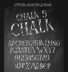 Chalk grunge alphabet vector
