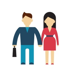 Character of businessman and woman flat vector