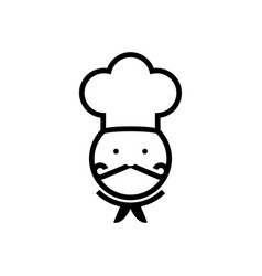 chef silhouette vector image