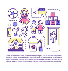 Children camp after school facility article page vector