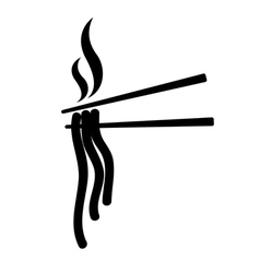 chopsticks asia food icon vector image