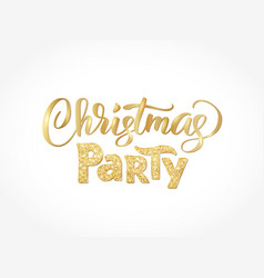 christmas party hand written lettering isolated on vector image