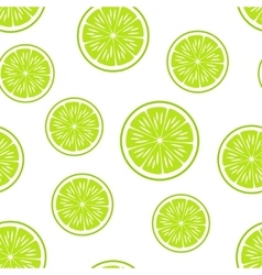 Citrus BackgroundSeamless PatternLime vector image