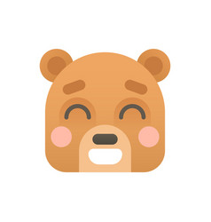 Cute bear flat logo icon portrait vector