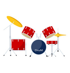 Drums kit icon flat style vector