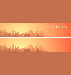 dubai beautiful skyline scenery banner vector image