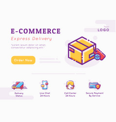 e-commerce and delivery service graphic template vector image