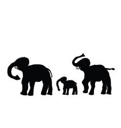 Elephant family vector