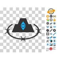 Ethereum classic citadel icon with bonus vector