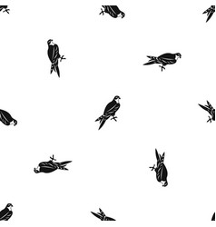 Falcon pattern seamless black vector