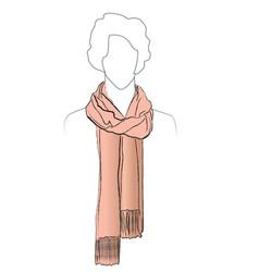 Fashion accessory winter set women clothing vector