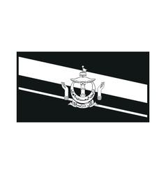 Flag of Brunei on white background vector