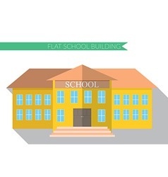 Flat design modern of school building icon set vector image