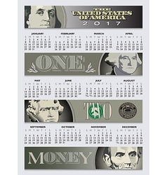 Free enterprise is the theme of this 2017 calendar vector image