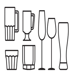 Glass cup icon5 vector