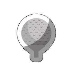 Golf sport isolated icon vector