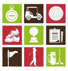 Golf tournament design vector