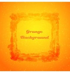 Grunge orange texture frame vector