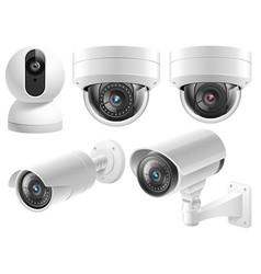home security cameras video surveillance systems vector image