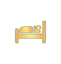 Hotel computer symbol vector image