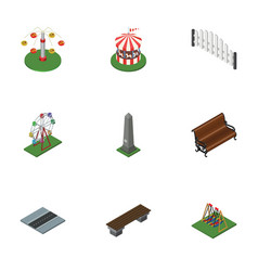 Isometric architecture set of dc memorial vector