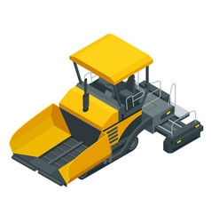 Isometric asphalt paver asphalt spreading machine vector