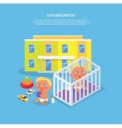 Kindergarten Design Flat Banner vector image