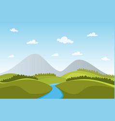landscape nature wallpaper vector image