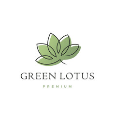 lotus leaf logo icon vector image