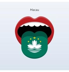 Macau language Abstract human tongue vector image