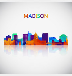 madison skyline silhouette vector image