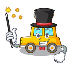 Magician clockwork toy car isolated on mascot vector
