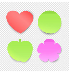 memo stickers collection sticky notes vector image