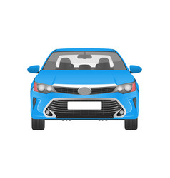 Modern practical car in blue corpus front view vector