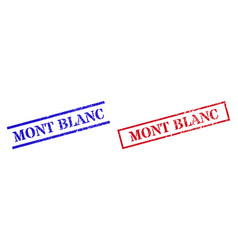 Mont blanc textured scratched stamp watermarks vector
