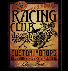Motorcycle tee graphic vector