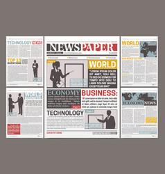 Newspaper template design vector