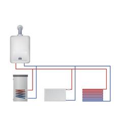 Ondensate boiler boiler hot water floor heating vector