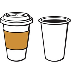 Paper cup coffee icon vector