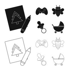 Picture dzhostik bee nippletoys set collection vector
