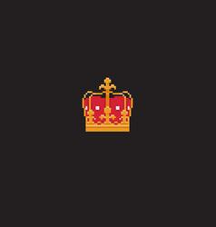 Pixel art crown vector