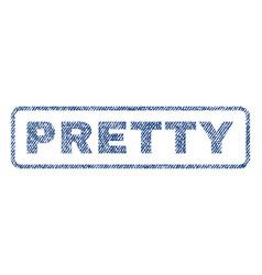 Pretty textile stamp vector